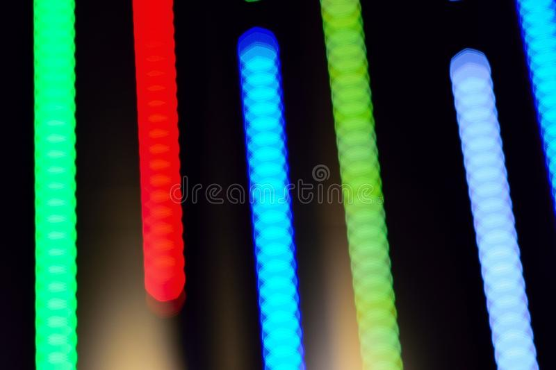 Abstract background of colorful blur light trails. In horizontal frame royalty free stock photos