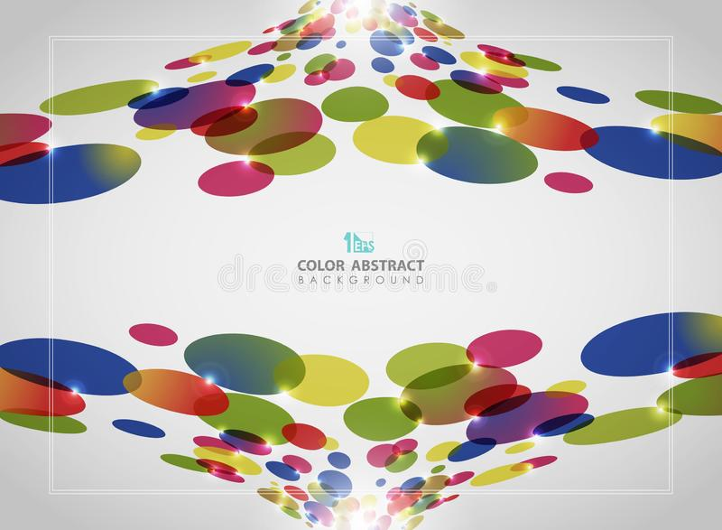 Abstract background of colorful circle pattern with glitters royalty free illustration