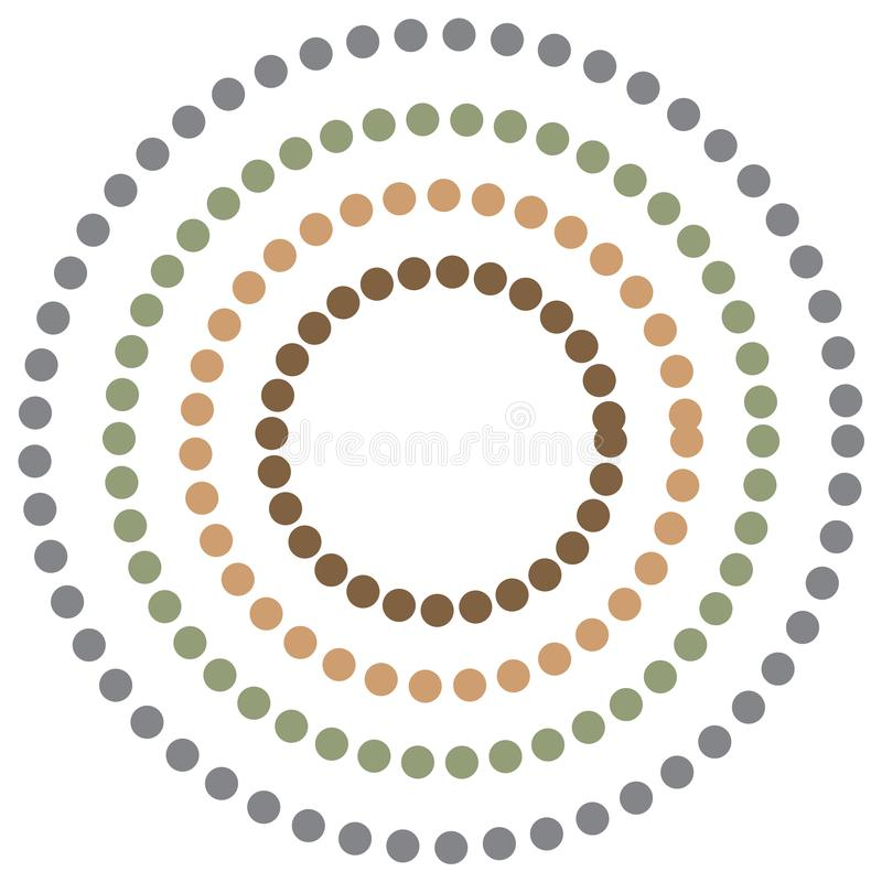 Abstract background with colorful circles hypnosis. Vector vector illustration