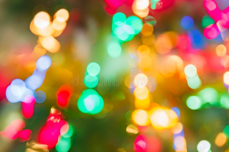 Abstract background of colorful lines in motion. blurred neon rainbow leds, festive backdrop of fireworks. Decocused image.  royalty free stock image