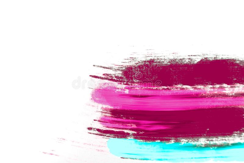 Abstract background of colorful pigment on white background. stock photography