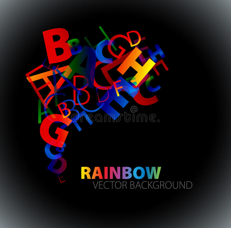 Abstract background with colorful rainbow letters vector illustration