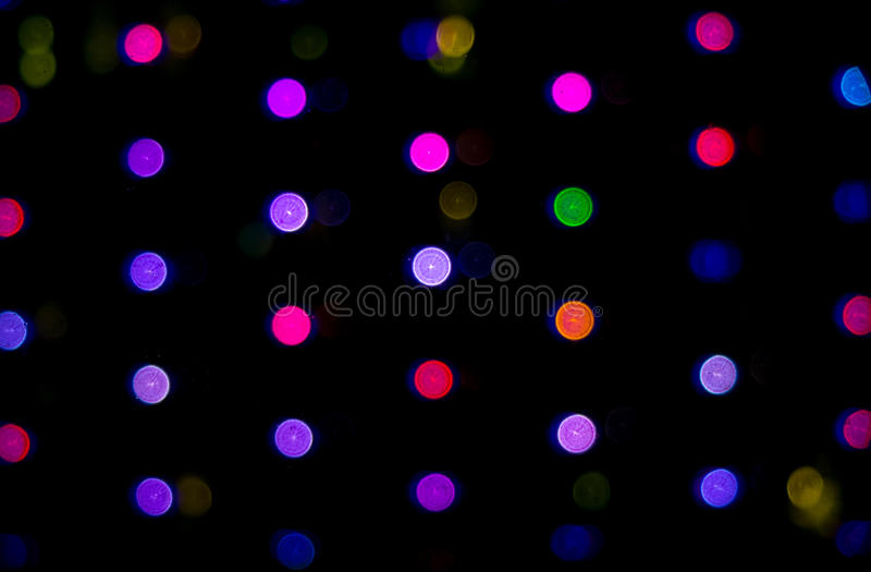 Abstract Background Colorful Round Light Color Bokeh Circles for Celebration Christmas and New Year Event Background stock photography