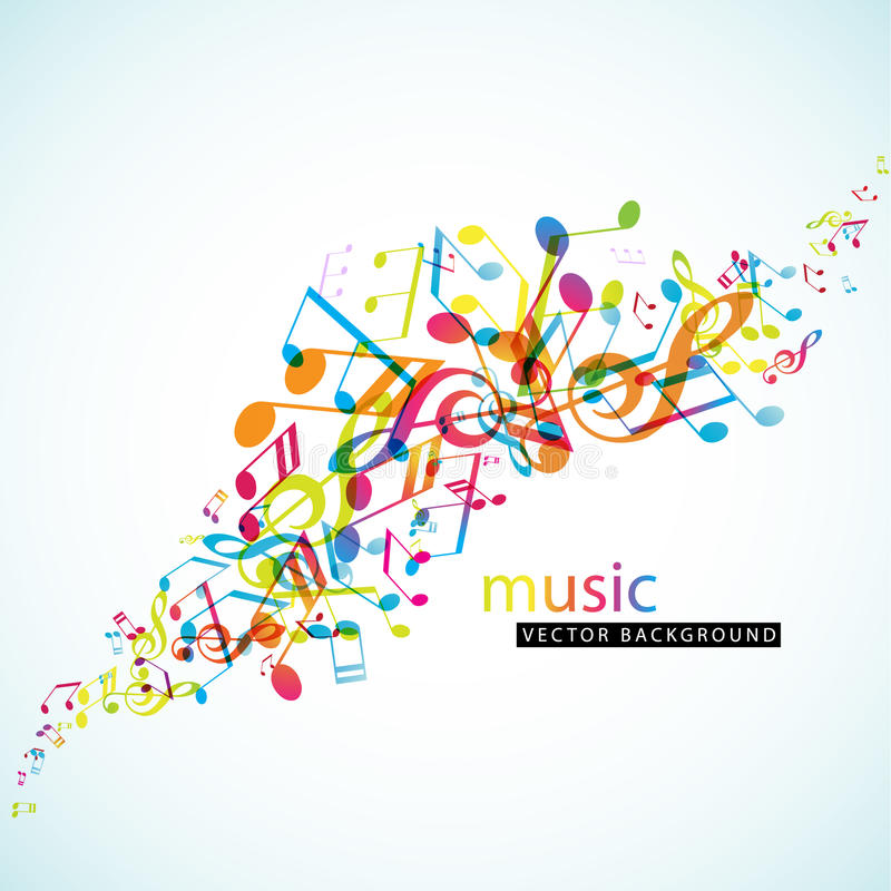 Download Abstract Background With Colorful Tunes Stock Vector