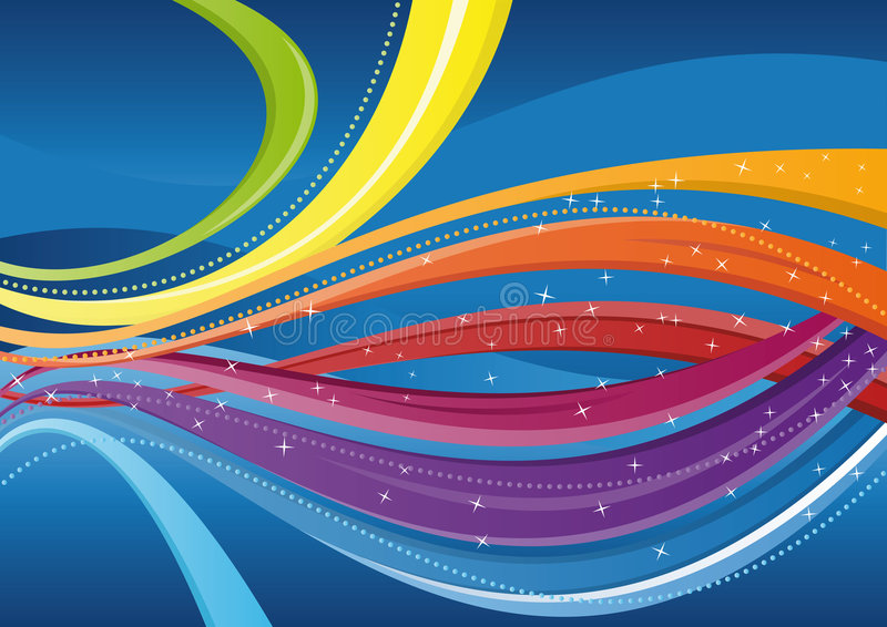 Abstract background - colorful waves stock photos