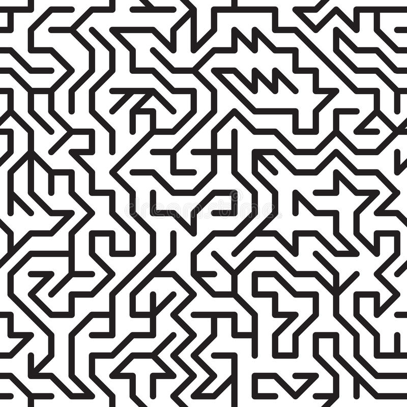 Abstract background with complex maze royalty free illustration