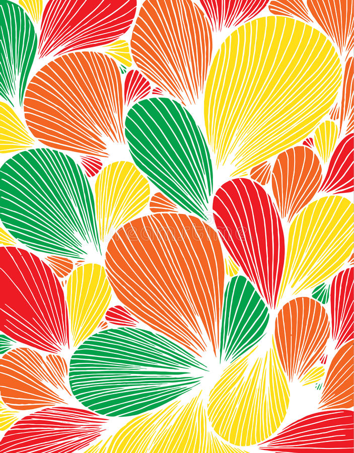 Abstract background is composed of colored petals of flowers royalty free illustration