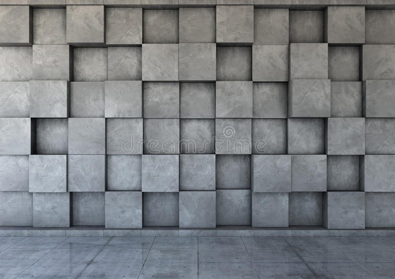 Abstract background of the concrete. 3d render stock image