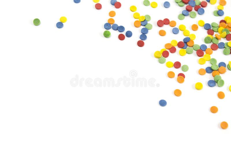 Abstract background with confetti with copy space stock photography
