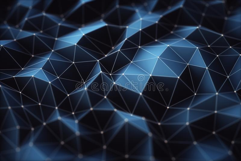 Abstract Background Connections. 3D illustration. Abstract image, connections in lines and geometric shapes. Concept of technology for use as background stock images