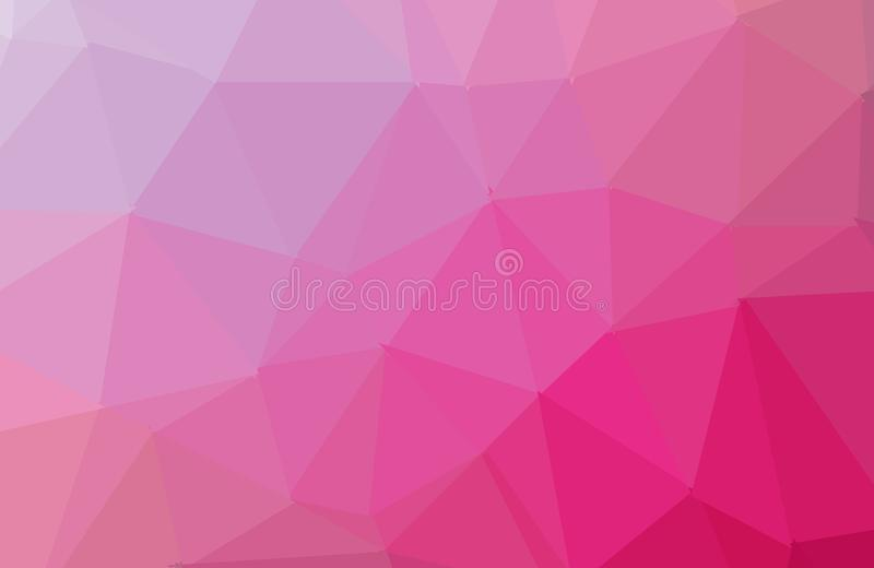 Multicolor pink, yellow, orange geometric rumpled triangular low poly style gradient illustration graphic background. Vector stock illustration