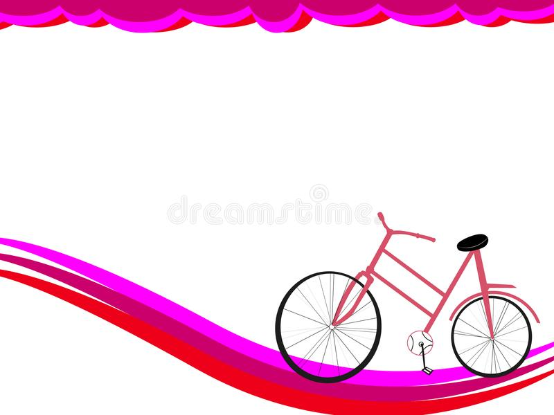 Background for a card of a female concept royalty free stock image