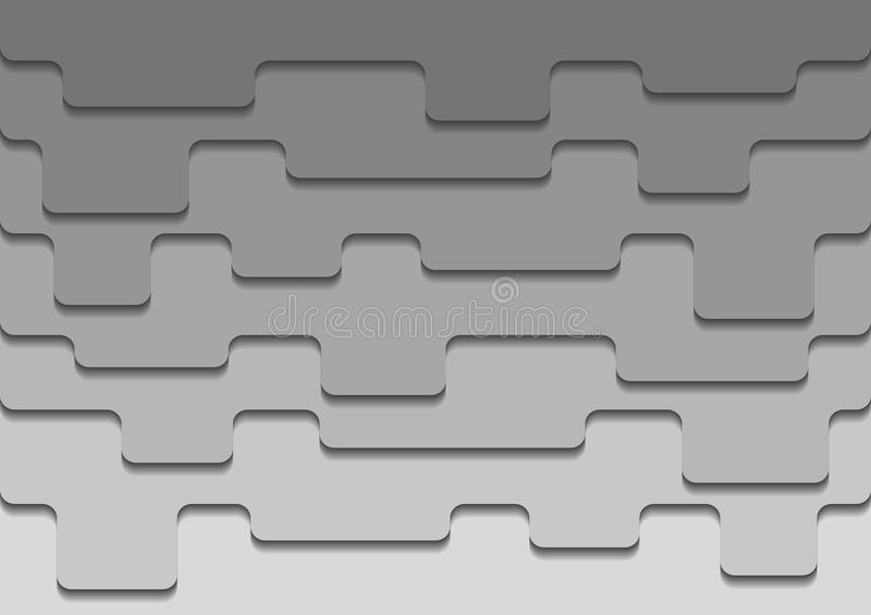 Abstract background. Creative grey background with 3d overlap design royalty free illustration