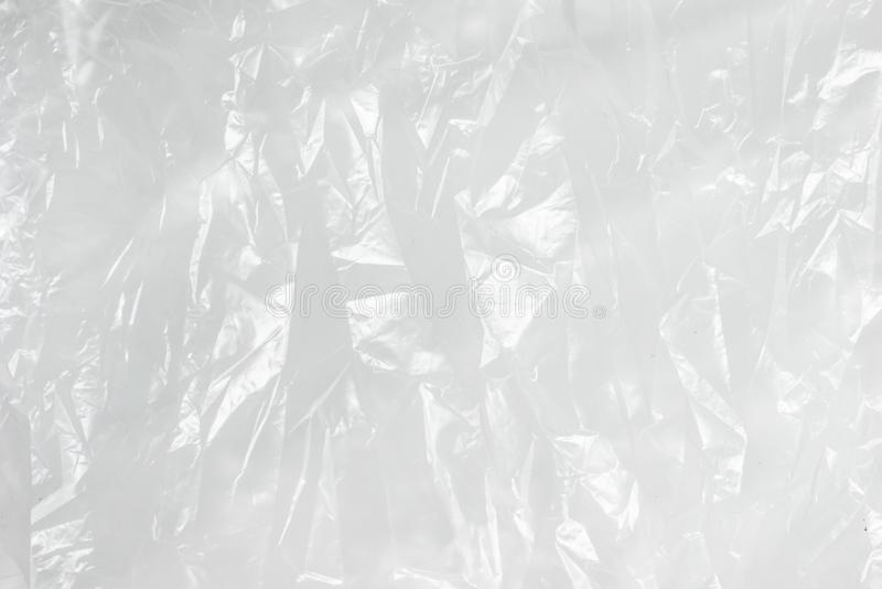 Abstract background crumpled plastic film texture white garbage bag.  stock images