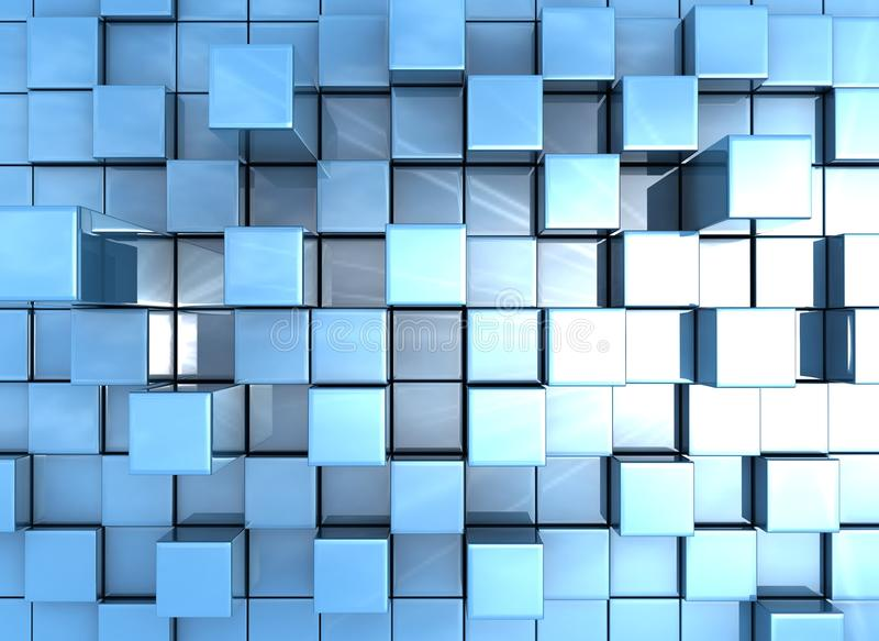 Abstract background - cubes blue vector illustration