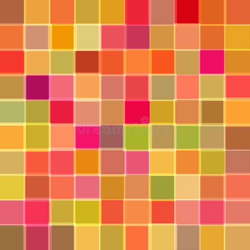 Abstract background with cubes of red color. Raster stock illustration
