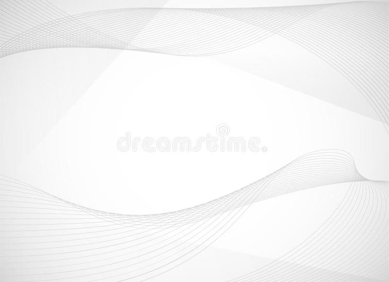 Abstract background with curved wavy line. Vector illustration stock illustration