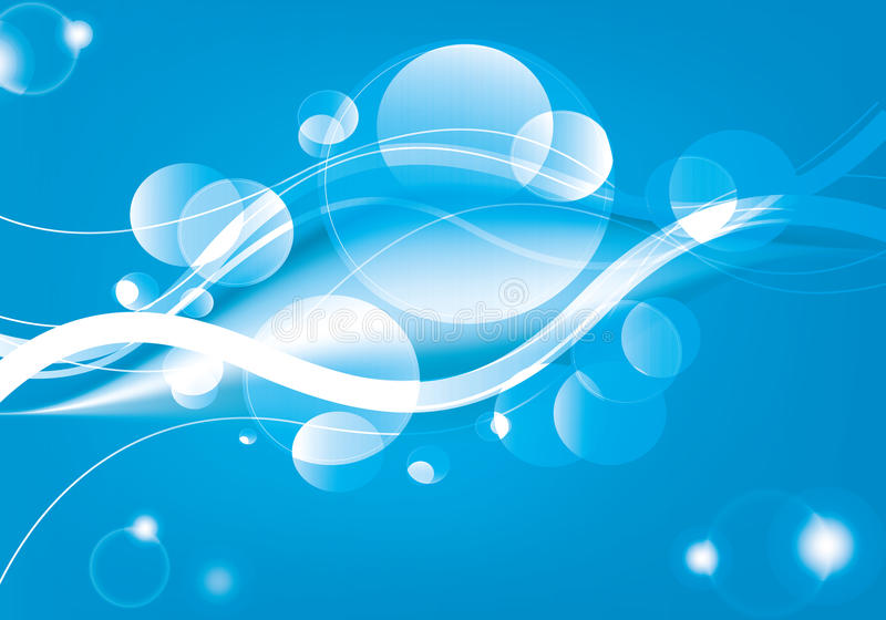 Abstract background with curves and spheres vector illustration