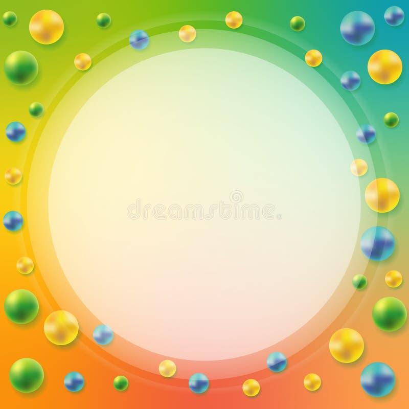 Metallic Spheres Abstract Design Stock Illustration