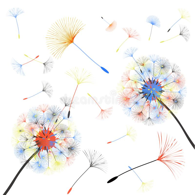 Abstract background of a dandelion for design. stock illustration