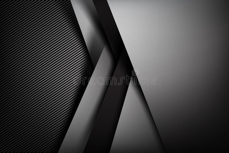 Abstract background dark with carbon fiber texture vector illustration eps10 037 vector illustration