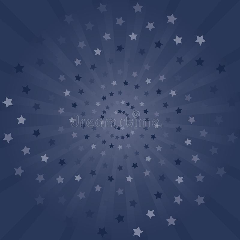 Abstract background. Dark Blue Purple rays and stars background. Vector royalty free stock image