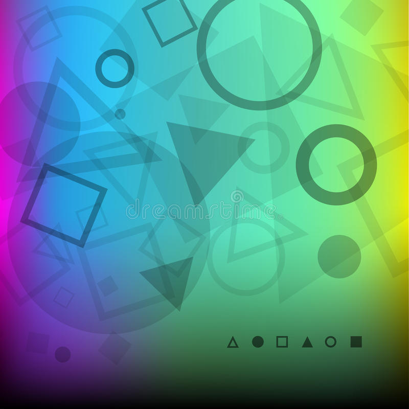 Abstract Background Of Dark Geometrical Shapes Royalty Free Stock Photography