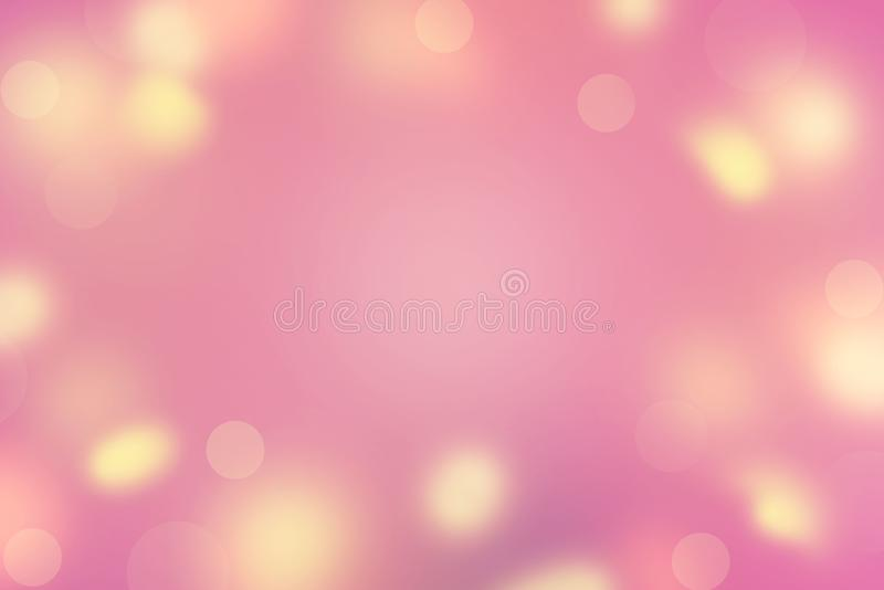 Abstract background Defocused Spots Bright colors Saturation violet yellow pink sun glare Merry Christmas and happy New year. Abstract background Defocused Spots royalty free stock images