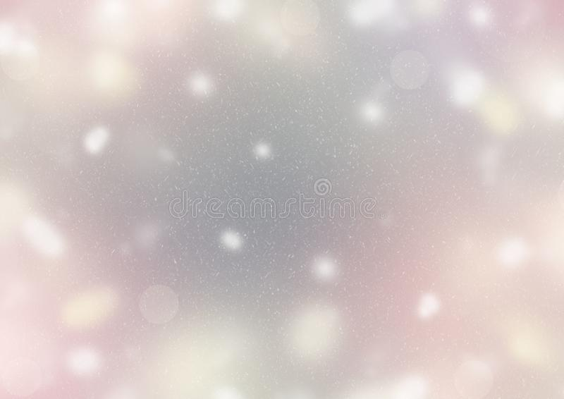Abstract background Defocused Spots Light colors pastel gray purple yellow snow sun glare Merry Christmas and happy New year. Abstract background Defocused Spots royalty free illustration