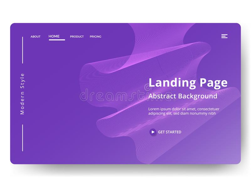 Illustration. Abstract background design. Landing page template. web page design for website and mobile development. Eps10 vector, wave, texture, identity royalty free stock images