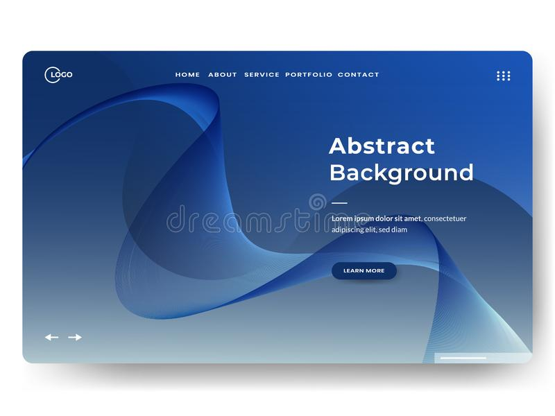 Abstract background design. Landing page template. web page design for website and mobile development. minimalist style. Eps10 stock image