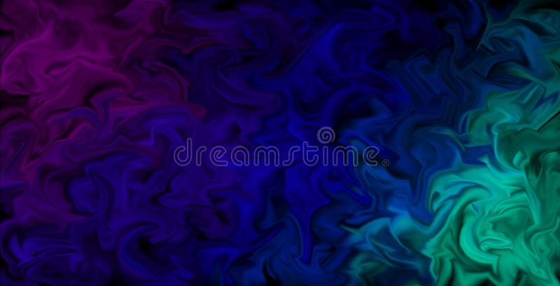 Pulsing Smeared Colors Wallpaper - Abstract artistic background, colors in motion. Abstract background design in moving color style, pulsing colors in pink stock illustration
