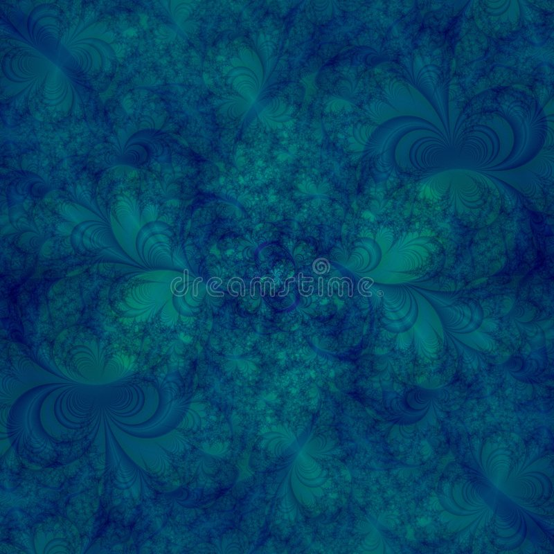 Abstract Background Design template in shades of aqua and blue and green swirls royalty free illustration