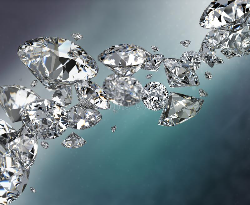 Abstract background with diamonds royalty free illustration
