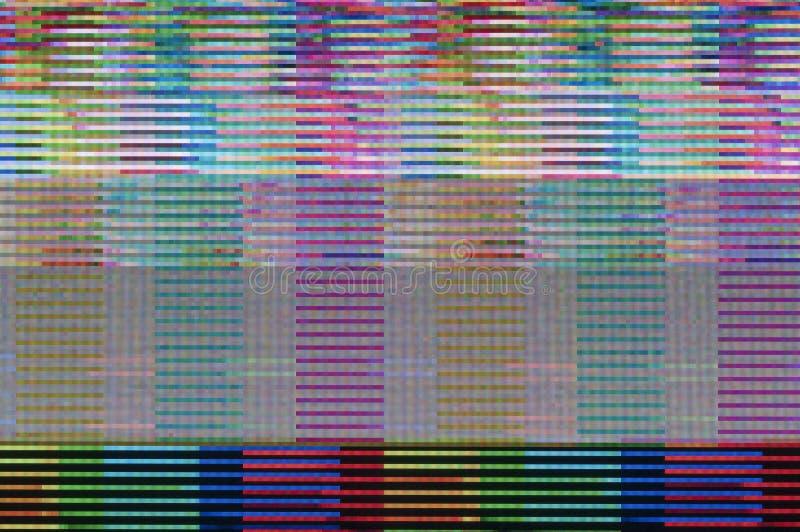 Digital glitch. Abstract background of a digital glitch stock illustration