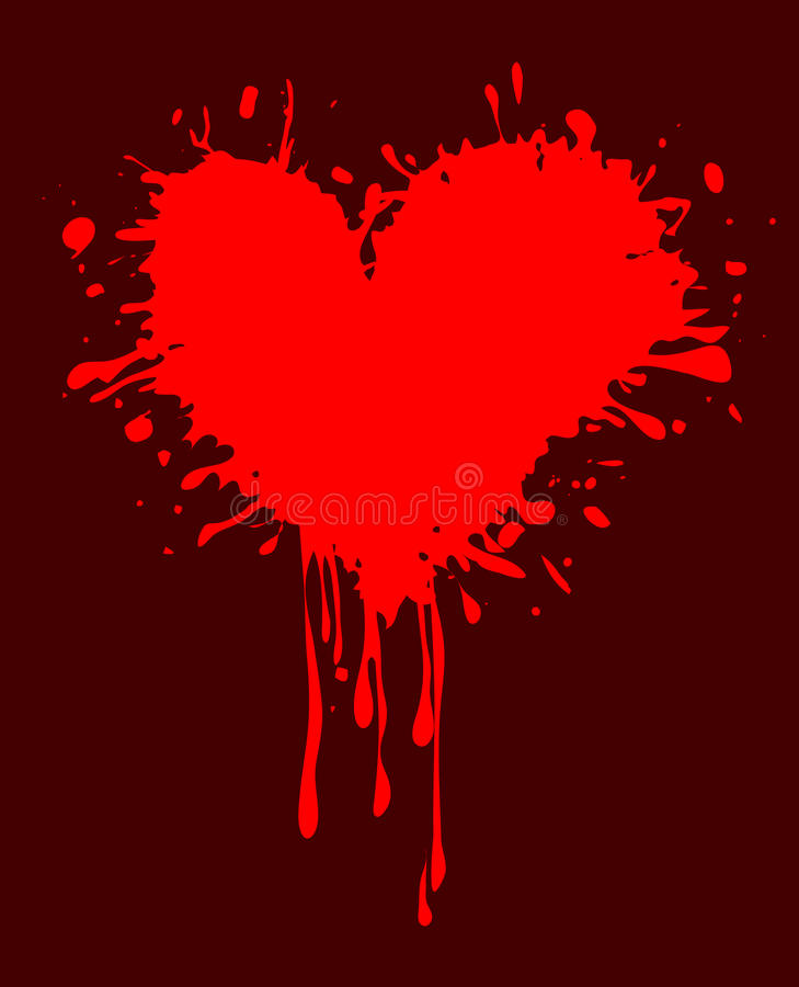 Abstract background with a dirty heart vector illustration