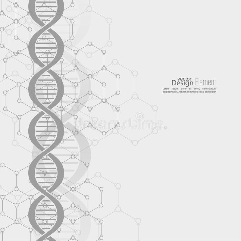 Abstract background with DNA molecule structure royalty free illustration