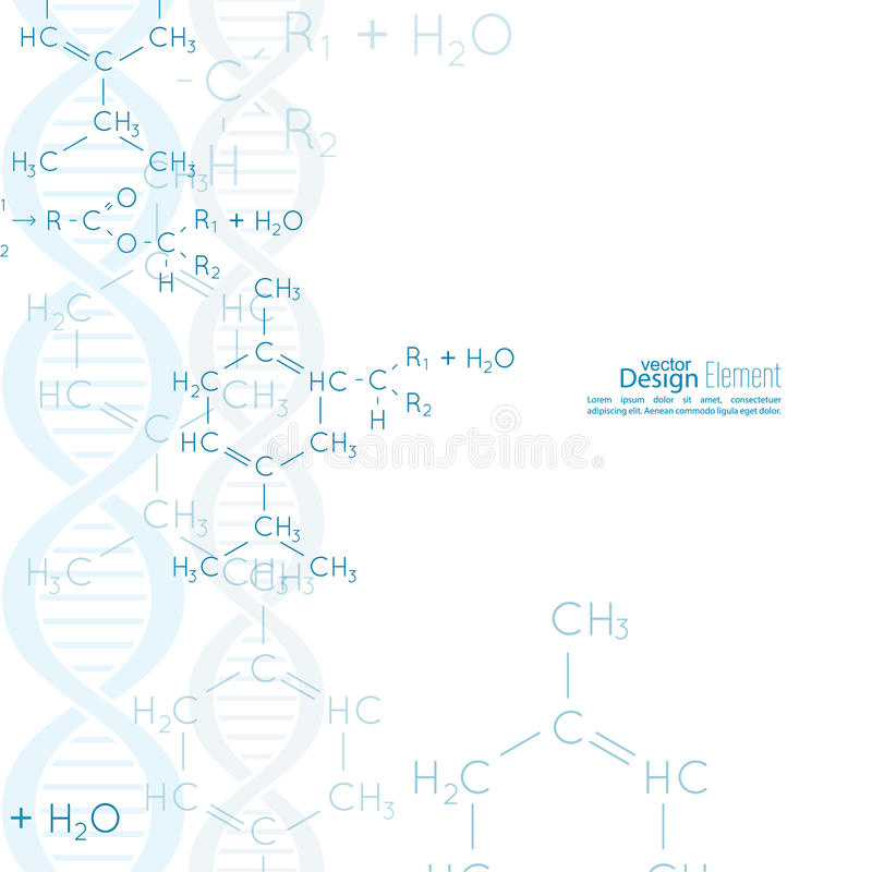 Abstract Background With Dna Molecule Structure Stock Vector