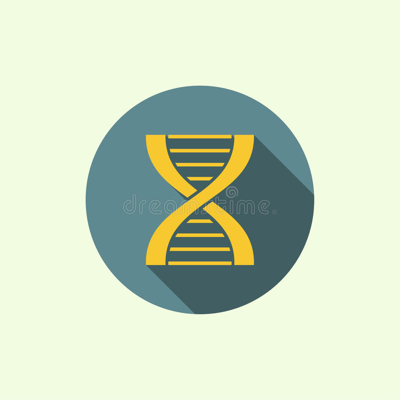 Abstract background with DNA molecule structure. Abstract background with DNA strand molecule structure. genetic and chemical compounds. icon with a long shadow stock illustration