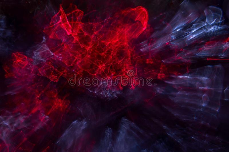 Abstract background. Explosion star with gloss and lines. Awesome beautiful nebula somewhere in outer space. Colorful space royalty free stock photos