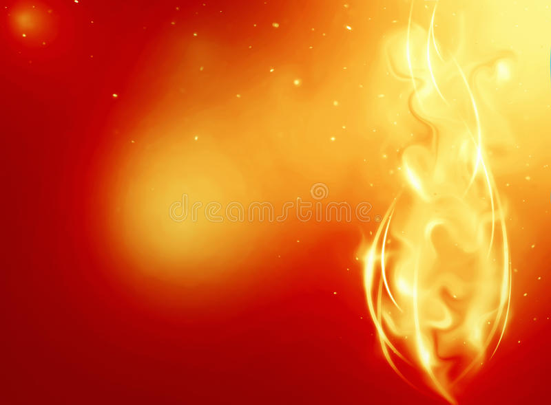 Abstract background with fantasy fire. Abstract background with bright fantasy fire or a smoke stock illustration