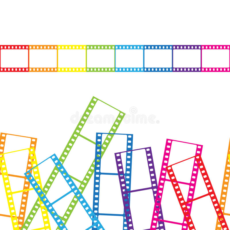 Abstract background with a film strip. Vector. Illustration royalty free illustration