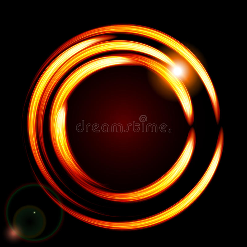Abstract background-fire circle frame. Vector illustration stock illustration