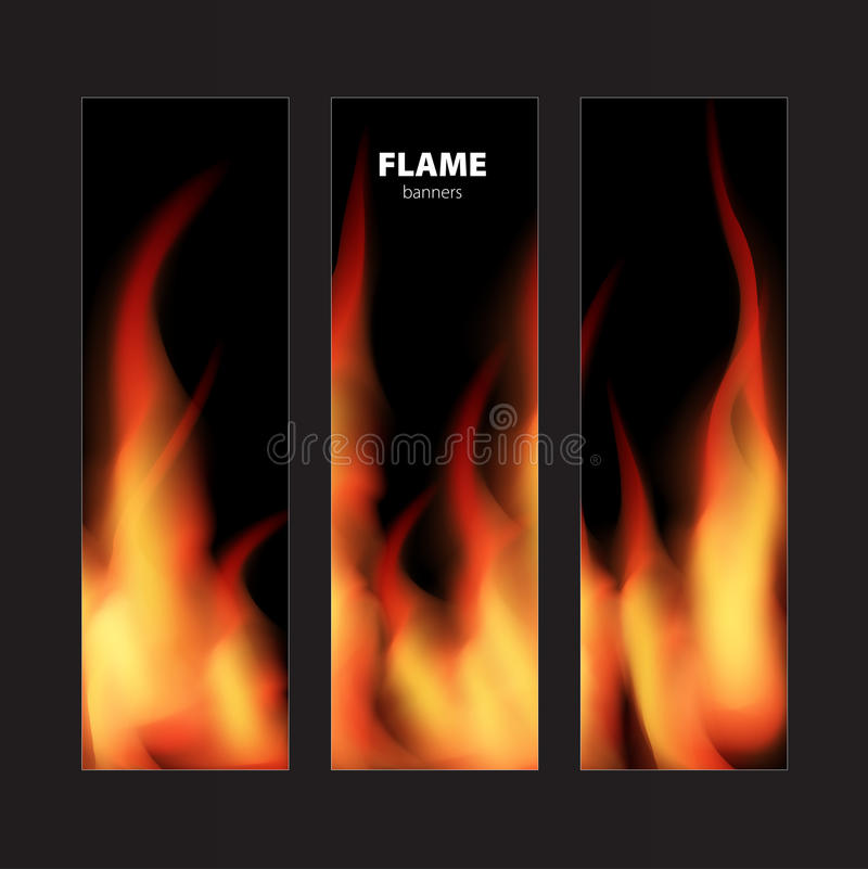 Abstract background with fire flames frame and copy space for te. Xt. Vector illustration stock illustration