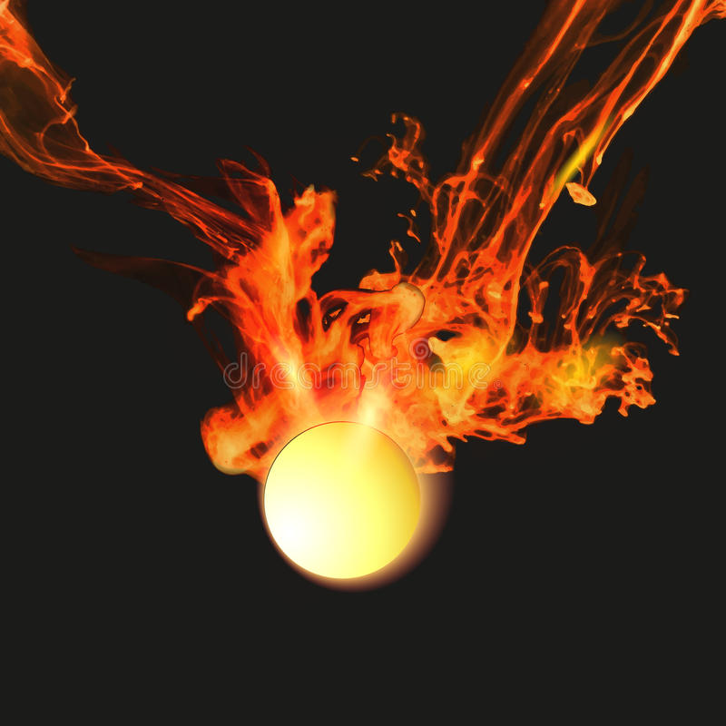 Abstract background with fire. Abstract background with vector fire vector illustration