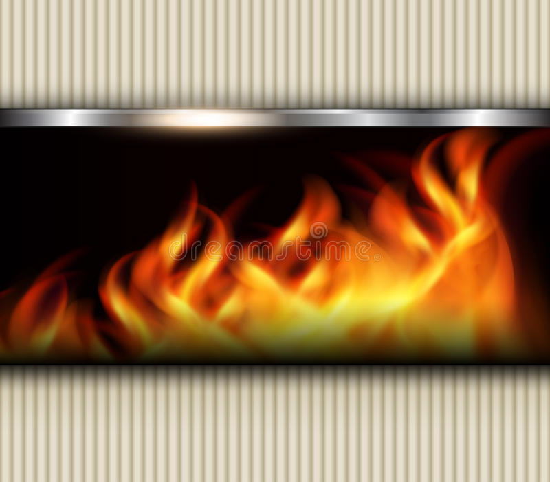 Abstract background fire. Abstract background with vector fire flames royalty free illustration