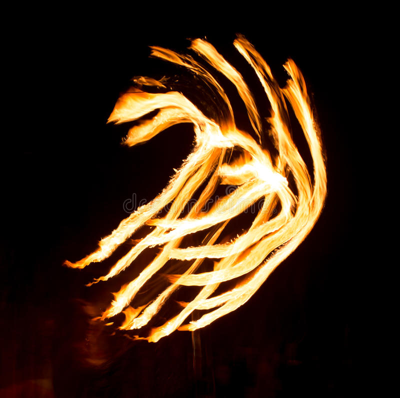 Abstract background of flame on fire show.  stock photography