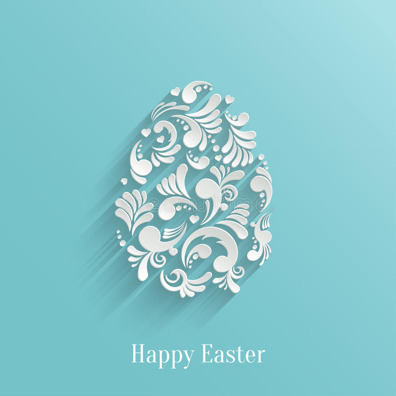 Abstract Background with Floral Easter Egg royalty free illustration