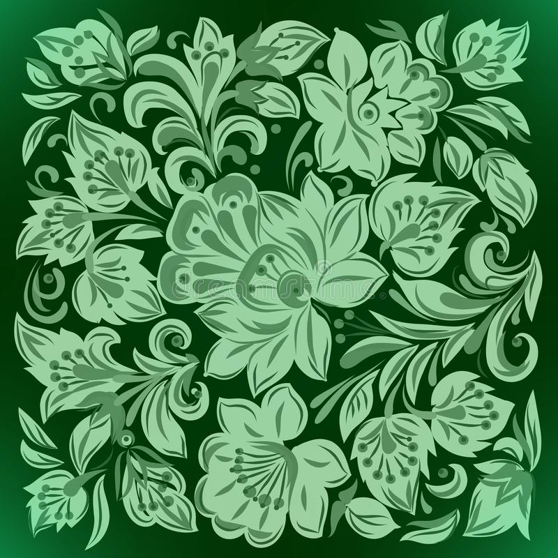 Download Abstract Background With Floral Ornament Stock Vector - Image: 16989617
