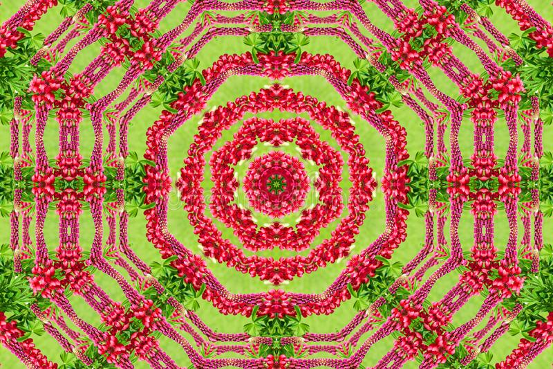 Abstract background of flower pattern of a kaleidoscope royalty free stock photos
